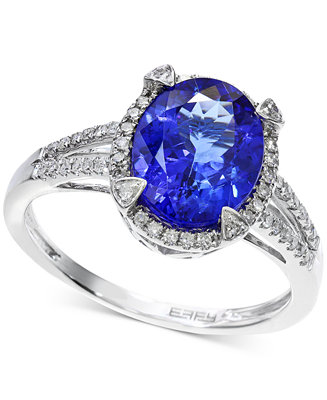 Tanzanite 2 5 8 ct t w and diamond 1 4 ct t w ring for Macy s jewelry clearance