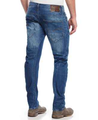 G-Star RAW Mens Arc Slim-Fit Torn & Washed Jeans
