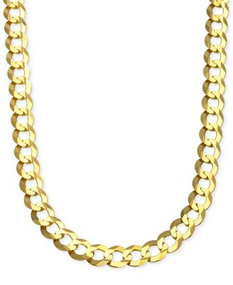 cuban chain link necklace in 10k gold necklaces