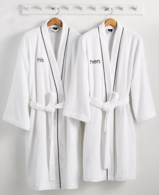Hotel Collection His or Hers Robe 100% Turkish Cotton