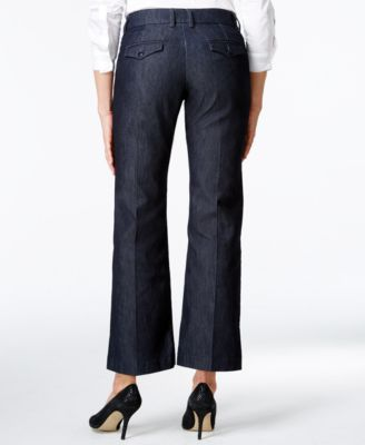 Lee Platinum Petite Madelyn Wide-Leg Trousers in Indigo Rinse