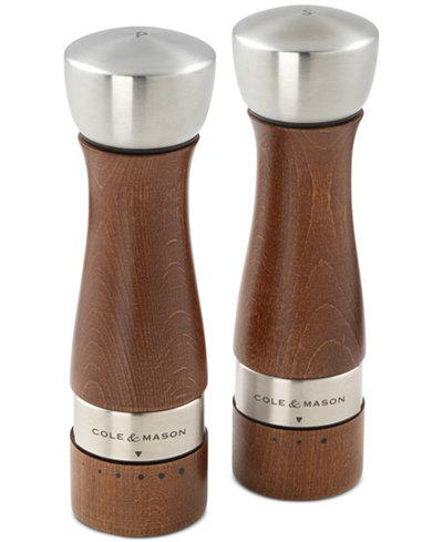 Cole mason oldbury walnut stained salt pepper mill set kitchen gadgets kitchen macy 39 s - Novelty pepper mill ...