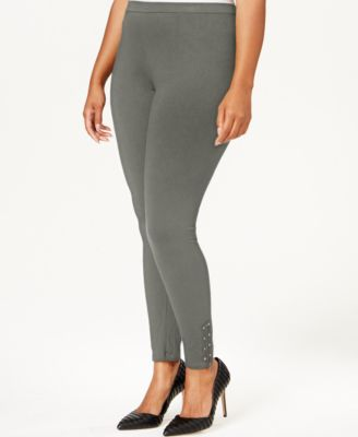 Style & Co. Plus Size Studded Zip-Cuff Leggings, Only at Macy's
