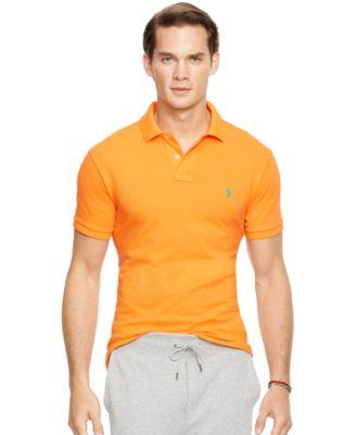 Polo Ralph Lauren Men\u0026#39;s Custom-Fit Mesh Polo Shirt