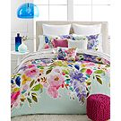 Bluebellgray Wisteria Mint 3 Pc Bedding Collection 100