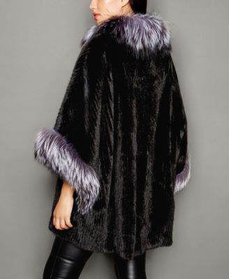 The Fur Vault Fox-Fur-Trim Knitted Min..