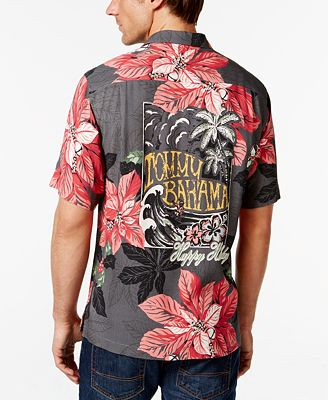 Tommy bahama half pipe holiday button front silk shirt for Tommy bahama christmas shirt 2014