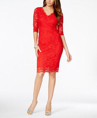 Thalia Sodi Go Red for Women® Lace Surplice Sheath Dress ...
