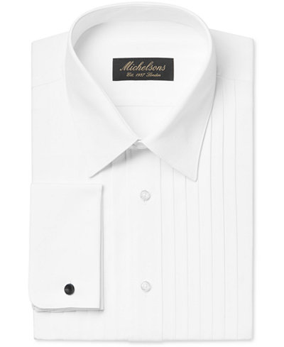 Michelsons Men 39 S Classic Fit Pleated Point Collar Tuxedo