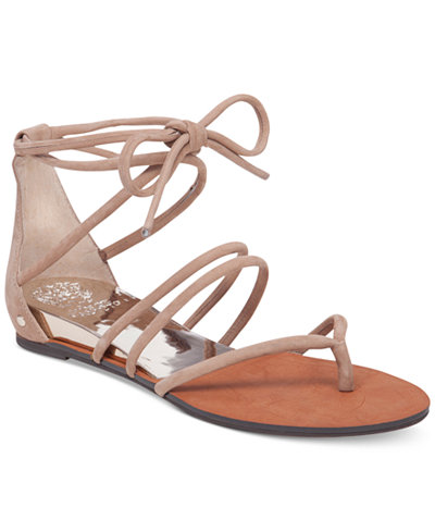 Vince Camuto Adalson Strappy Lace Up Flat Sandals