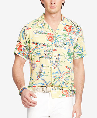 Polo ralph lauren hawaiian camp shirt casual button down for Polo ralph lauren casual button down shirts
