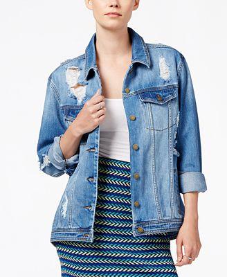 Image result for rachel roy oversized denim jacket