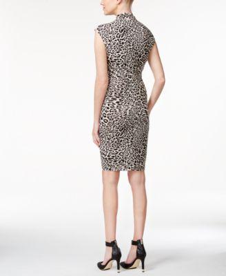 Calvin Klein Stand-Collar Printed Shea..