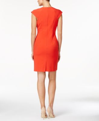 Tahari ASL Seamed Sheath Dress