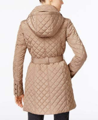 MICHAEL Michael Kors Petite Quilted Trench Coat