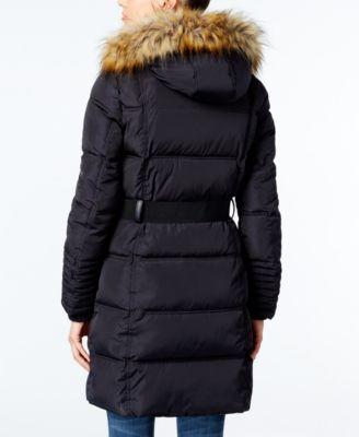 RACHEL Rachel Roy Faux-Fur-Trim Puffer Coat