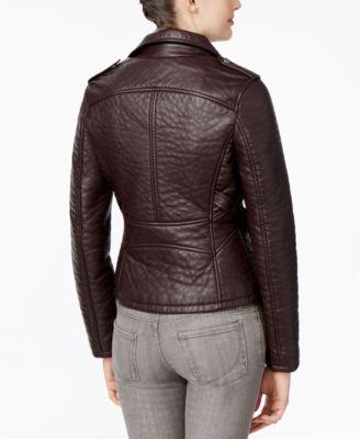 RACHEL Rachel Roy Faux-Leather Motorcycle Jacket