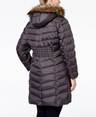 MICHAEL Michael Kors Plus Size Faux-Fur-Trim Down Puffer Coat