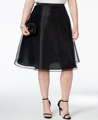 MSK Plus Size Chiffon A-Line Skirt - Skirts - Women - Macy's