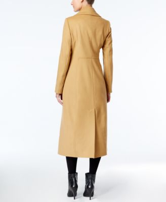 Anne Klein Petite Wool-Cashmere-Blend Maxi Walker Coat