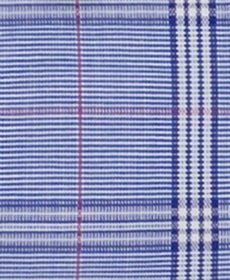 MICHAEL Michael Kors Mens Slim-Fit Non-Iron Blue Velvet Check Dress Shirt