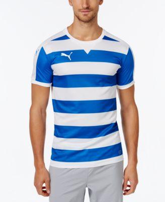 Puma Mens Striped Soccer Jersey