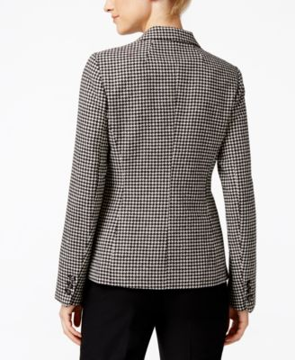 Charter Club Houndstooth Two-Button Blazer