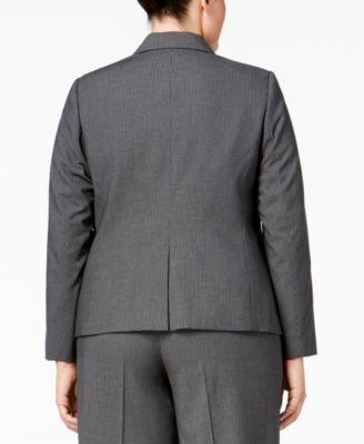 Calvin Klein Plus Size Pinstriped Two-..