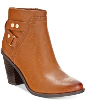 Bar III Dove Block-Heel Booties