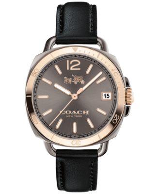 COACH Women's Tatum Black Leather Strap Watch 34mm 14502633