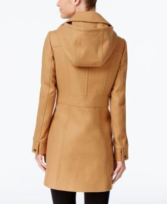 MICHAEL Michael Kors Petite Hooded Wool-Blend Coat