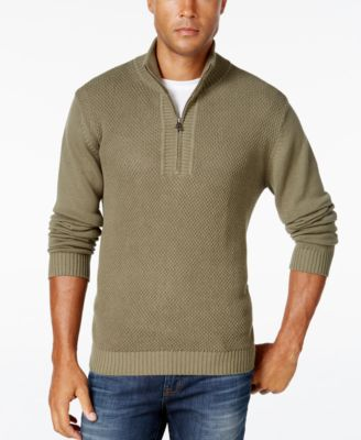 Weatherproof Vintage Mens Big and Tall Textured Quarter-Zip Sweater