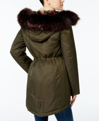 Wildflower Hooded Faux-Fur Parka