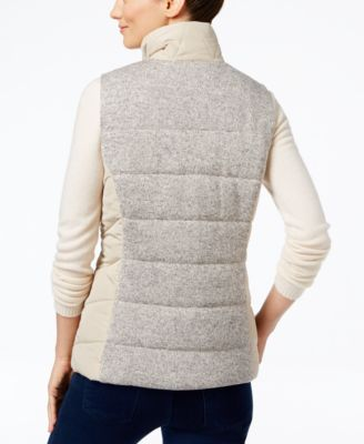 Style & Co. Mixed-Media Puffer Vest