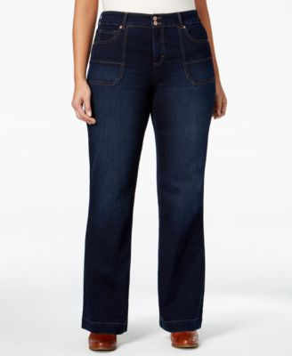 Style & Co. Plus Size Jewel Wash Trouser Jeans, Only at Macy's