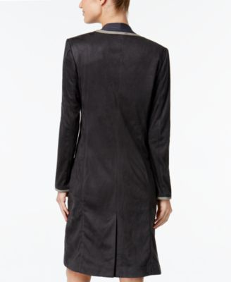 Calvin Klein Faux-Suede Duster Jacket