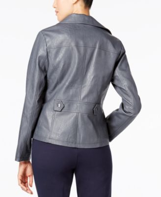 Alfani Faux-Leather Moto Jacket