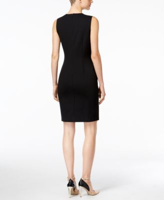 Alfani Petite Zipper-Detail Sheath Dress