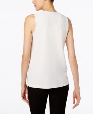 Alfani Zipped Drape-Front Top