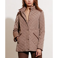 Lauren Ralph Lauren Womens Diamond-Quilted Jacket (Flannel, Bridle, or Black)