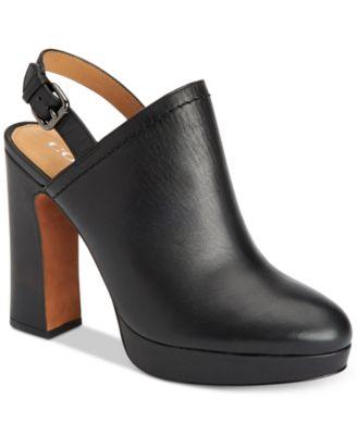 COACH Carmine Block-Heel Slingback Mules