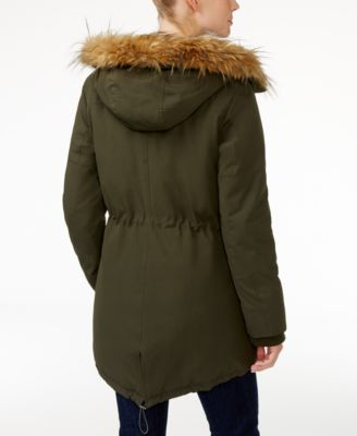 Levis® Faux-Fur-Trim Hooded Parka