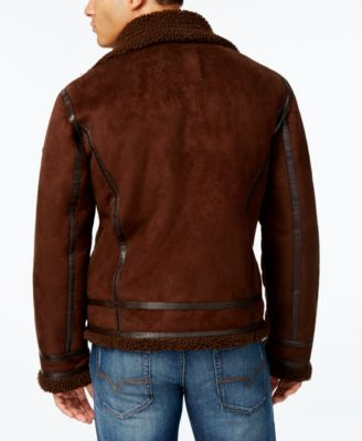 GUESS Mens Jack Jacket with Faux-Shear..