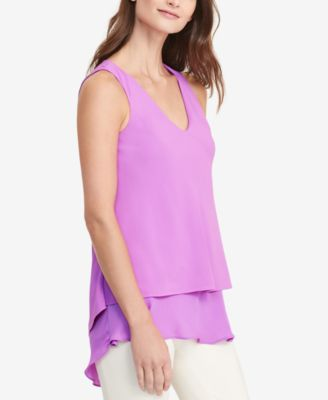 Lauren Ralph Lauren Layered Crepe Blouse