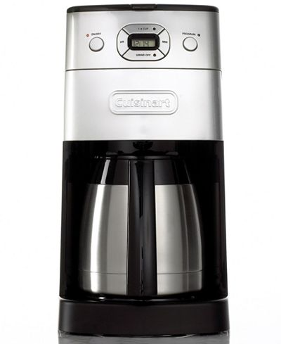 Grind And Brew Coffee Maker Thermal Carafe : Cuisinart DGB-650BC 10-Cup Grind & Brew Thermal Programmable Coffee Maker - Coffee, Tea ...