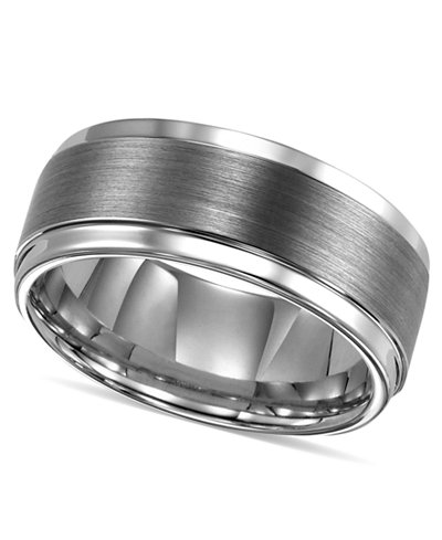 Triton Men 39 S Ring Tungsten Carbide Comfort Fit Wedding Band 9mm Band Si