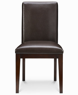 Bari Dining Chair Brown Leather