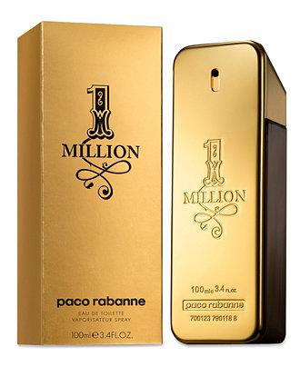 paco rabanne 1 million fragrance collection for men shop. Black Bedroom Furniture Sets. Home Design Ideas