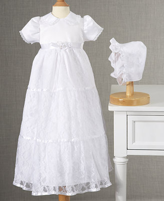 Lauren Madison Baby Dress Baby Girls Lace Tiered