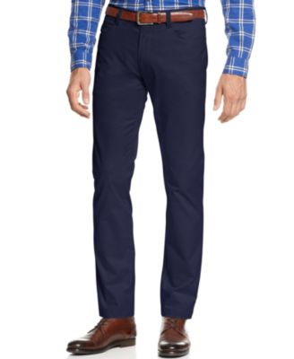 Calvin Klein Mens Sateen Slim-Fit Pants
